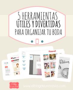 5 Herramientas útiles y divertidas para organizar tu Boda