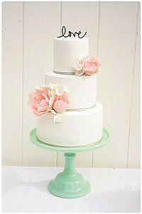 Adorno para el pastel de Boda love