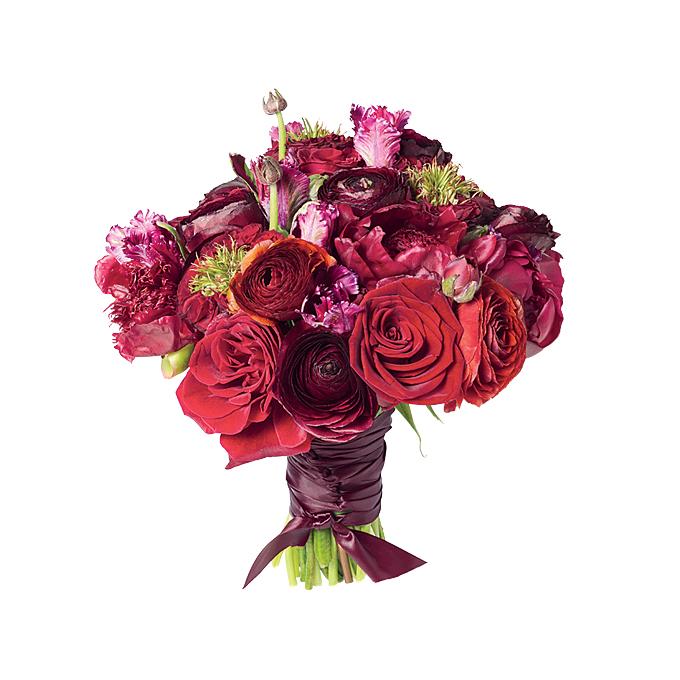 Boquet de Novia con rosa, rosas, peonía, ranúnculos y tulipanes.