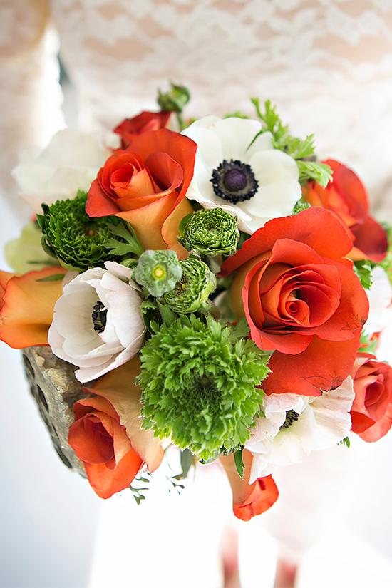 Bouquet de Novia Rojo y Blanco