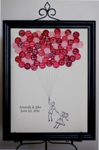libro de firmas globos de colores