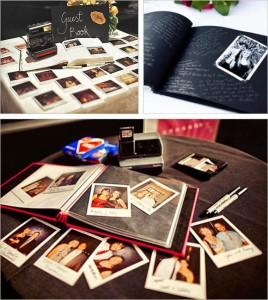 libro de firmas - polaroids
