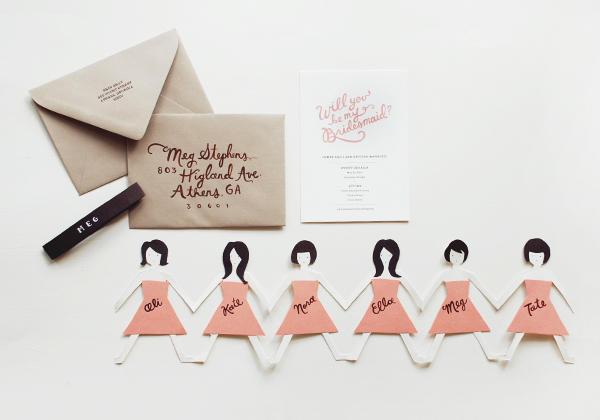 Tarjeta DIY para las damas de honor